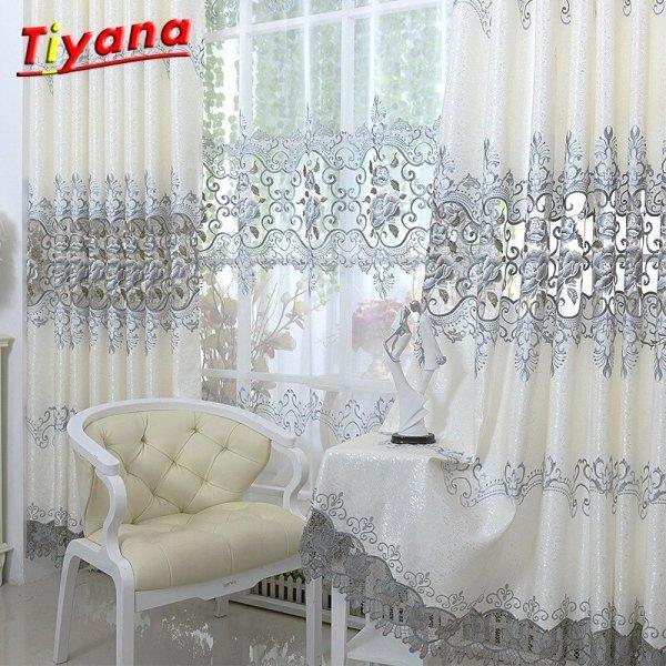 Изысканные шторы с вышивкой от TIYANA