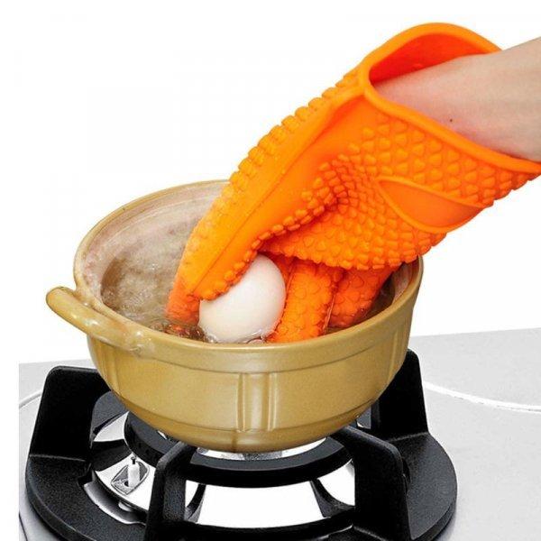 Силиконовые кухонные термостойкие перчатки от VKTECH (1 шт)