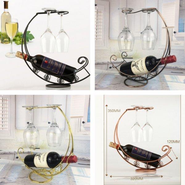 Держатель для бутылки с бокалами  YOMDID (3 цвета)