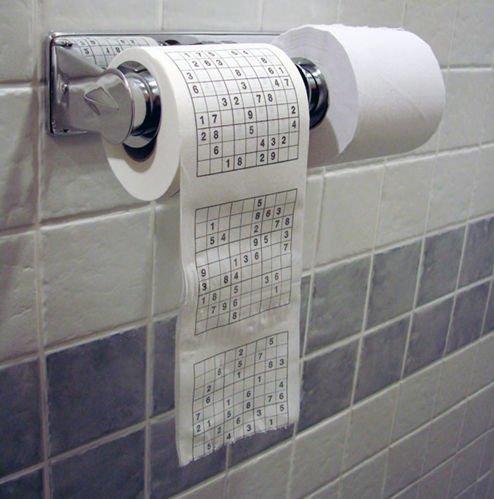 Туалетная рулонная бумага для истинных ценителей Судоку (3 рулона)