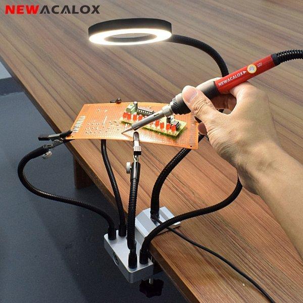 Стенд паяльный с подсветкой от NEWACALOX (3 вида)
