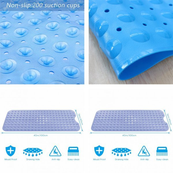 Противоскользящий коврик в ванну (2 размера, ПВХ)