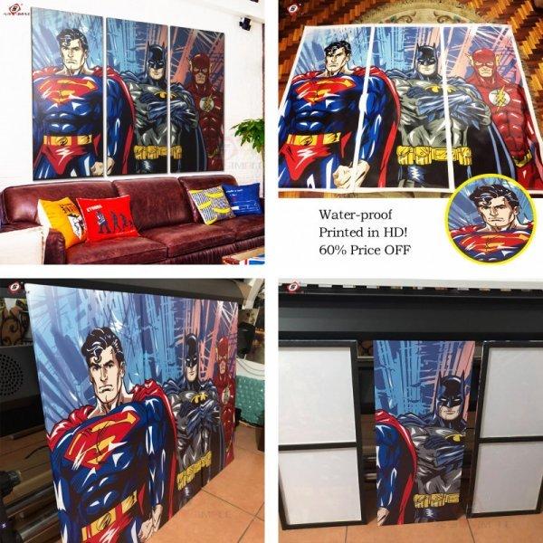 Триптих с супергероями для современных людей Simple