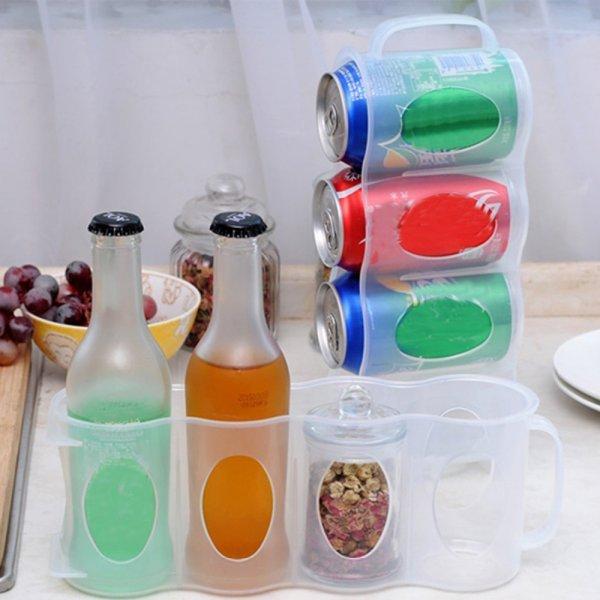 Вместительная баночница для холодильника Elenxs 4 в 1 (27,5*7*10 см)