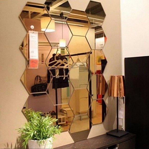 Набор самоклеющихся зеркал (12 шт, 2 размера)