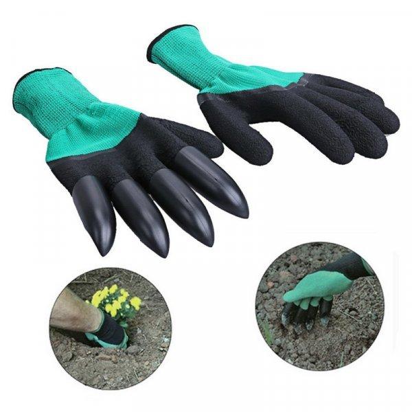 Садовые перчатки с когтями от VKTECH (1 пара, 2 цвета)