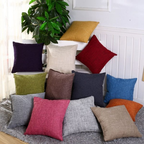 Декоративный чехол на подушку RUBYLOVE (1 шт, 2 размера, 13 цветов)
