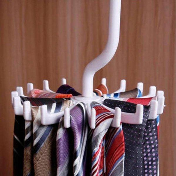 Вешалка для галстуков и платков SANGEMAMA (18 крючков, 6 цветов)