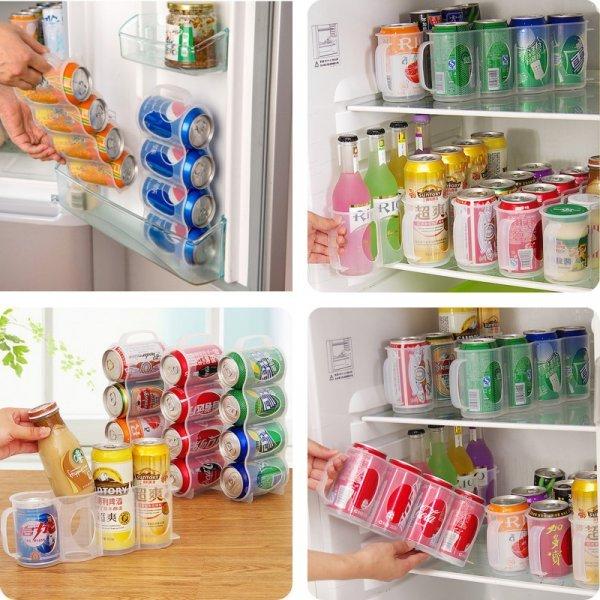 Держатель для банок в холодильнкие 4 в 1