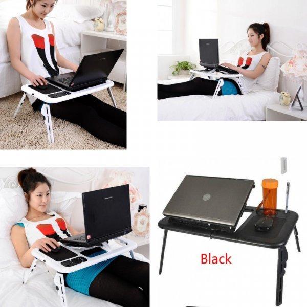 Столик для ноутбука с вентилятором Qijia (пластик, 56*31.6 см)
