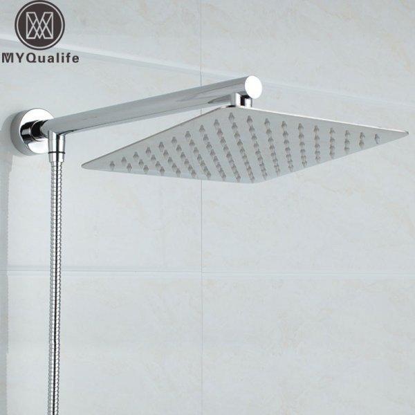 Ультра тонкая душевая лейка MYQualife Тропический душ  (20 см, 25 см, 30 см + шланг)