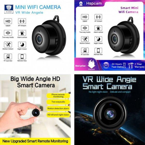 Мини-Wifi камера Smart Auto IR-Cut от Hspcam