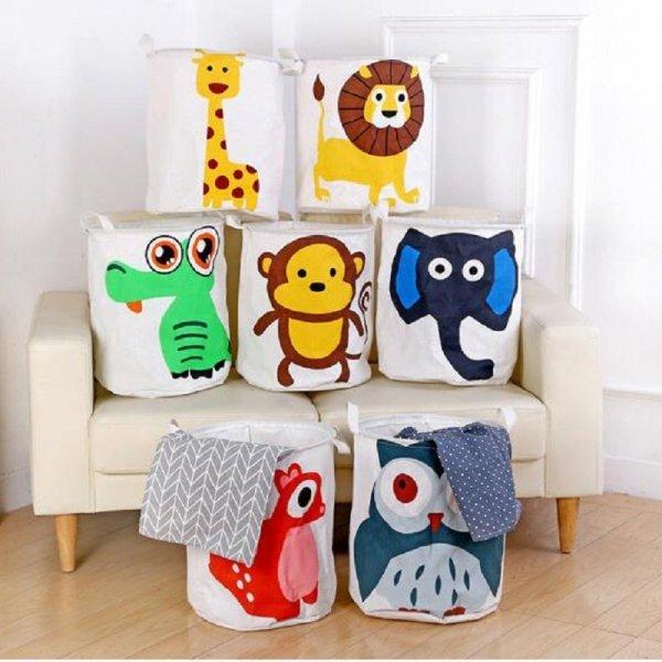 Бельевая корзина для детских вещей (50*40 см, 8 принтов)