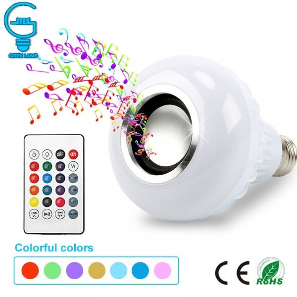 Лампочка-светомузыка от  GITEX (Е-27, 12 W)