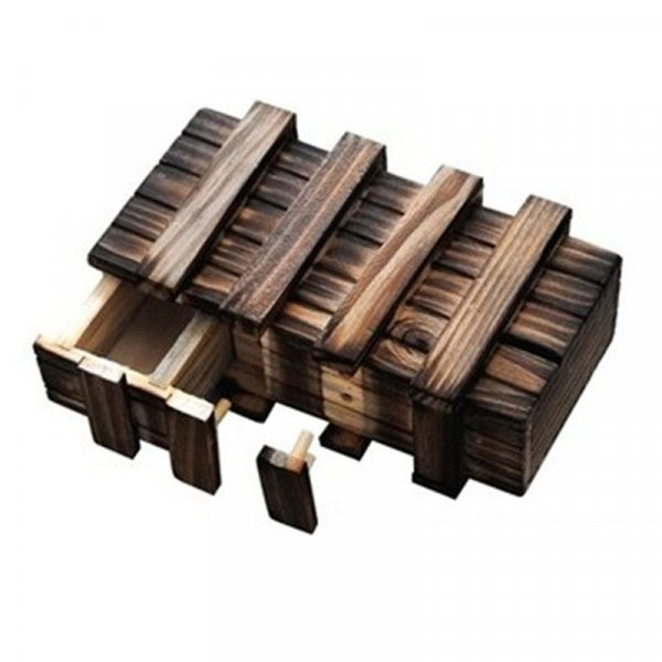 Винтажная деревянная головоломка  с потайным ящиком от AQK