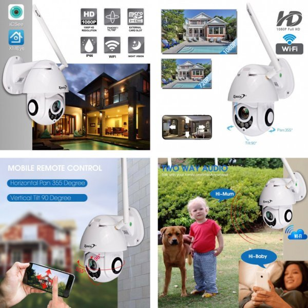Уличная веб-камера Zjuxin (9 типов)
