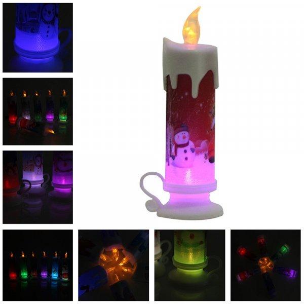 Декоративная свеча с подсвечником Новый Год (6 рисунков)