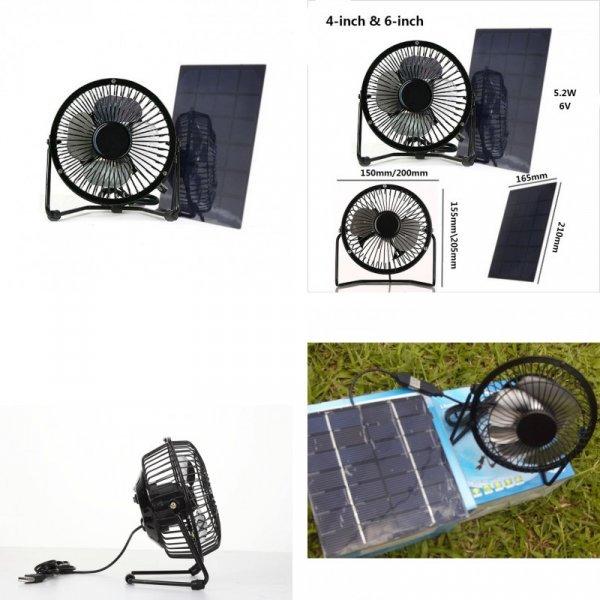 Вентилятор на солнечных батареях от POCHOS (2 размера)