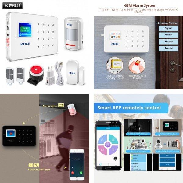 Охранная система KERUI с д.у управлением для IOS/Android (рус.прошивка, GSM)