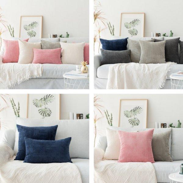 Уютные бархатные наволочки для дивана гостиной (5 цветов, 45*45 см, 60*60 см)