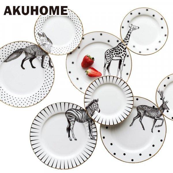 Комплект тарелок с рисунком от  (2 шт, 3 принта)