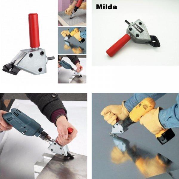 Насадка на дрель для резки металла от MILDA (2 комплектации)