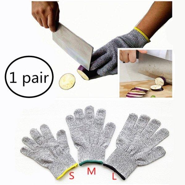 Чудо перчатки защитят пальцы о порезов ножом ZOHEYONER (3 размера)