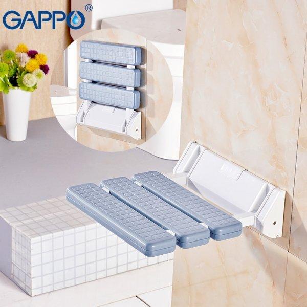 Настенное складное сиденье для ванной комнаты Gappo