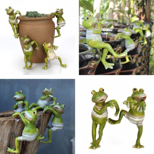 Набор садовых фигур Лягушата (4 шт)