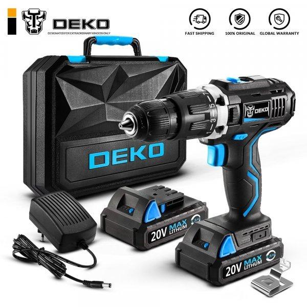 Мощный шуруповёрт аккумуляторный DEKO GCD20DU 20 В
