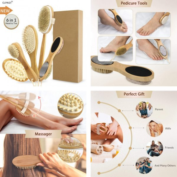 Набор массажная щеток для тела от CLPAIZI (5 предметов)