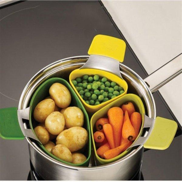 Контейнеры для варки овощей DIAMONDWORTH (3 шт)