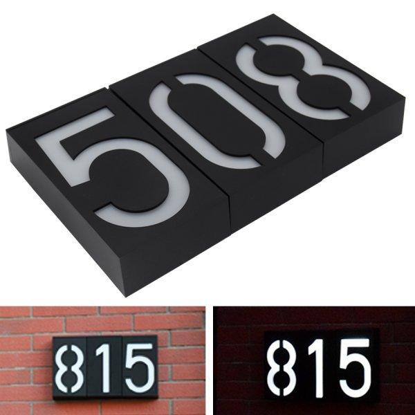 Номер дома с LED подсветкой от OUSAM LED
