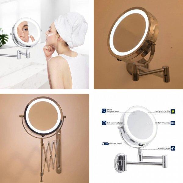 Зеркало для ванной с подсветкой и 3-х кратным увеличением от ANHO