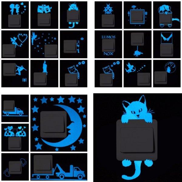 Светящиеся стикеры для выключателей NICELET (22 варианта)