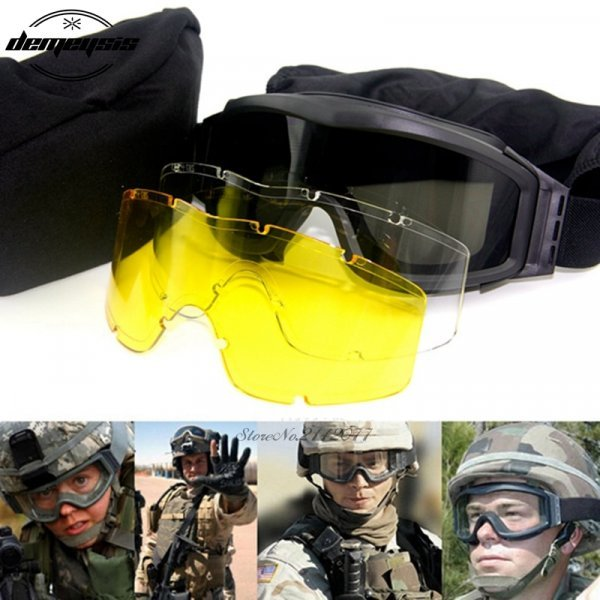 Тактические УФ и пылезащитные очки от DEMEYSIS (3 цвета)