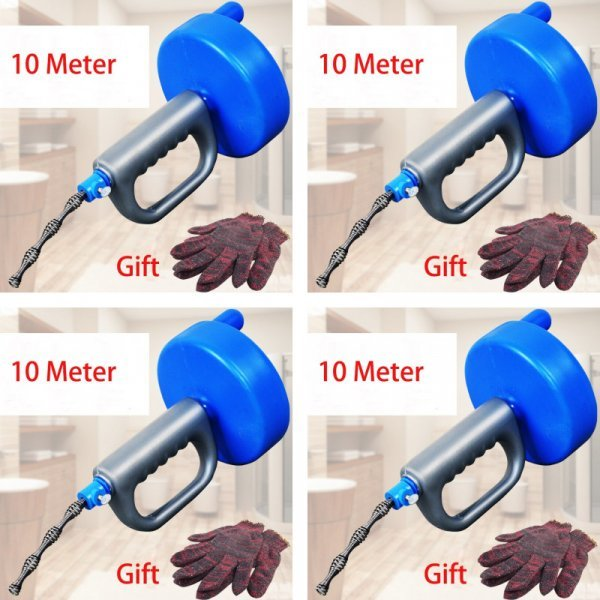 Прочный трос для прочистки канализации + перчатки (10 м)
