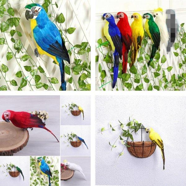 Фигурка для сада Попугайчик (7 цветов)