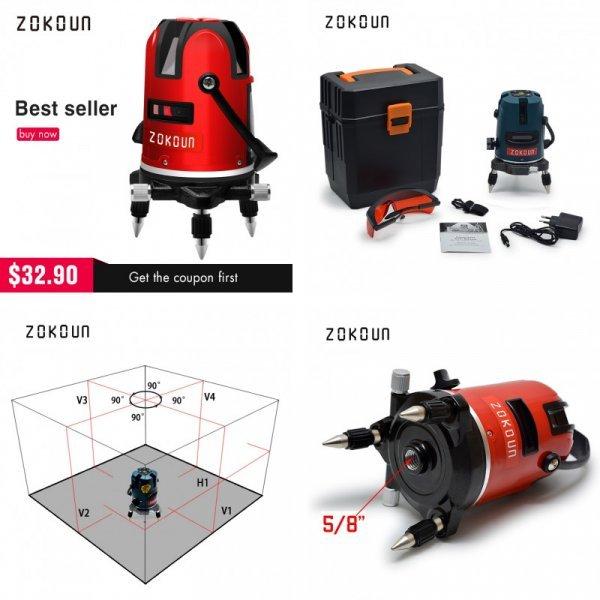 Отличный лазерный уровень нивелир  ZOKOUN (+аксессуары)