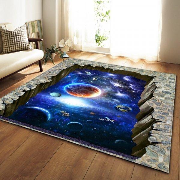 Нескользящий коврик с 3D принтом от SHIERJU (4 размера, 16 принтов)