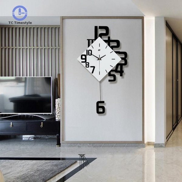 Часы на стену с маятником (63 см, 3 цвета)
