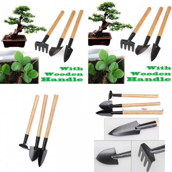 Мини набор из 2 лопат и грабли VKTECH (3 шт,  13 см)
