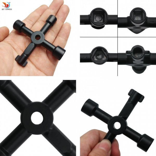 Карманный крестовой гаечный ключ Qstexpress  (72 мм)