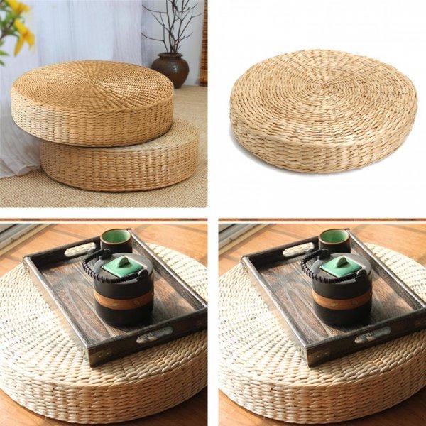 Плетеная напольная подушка для медитации