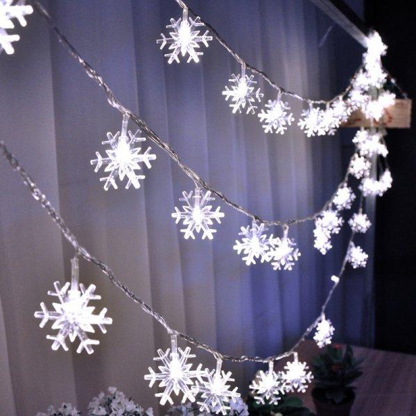 Снежная гирлянда от MJ STORE (5 м, 10 м, 4 цвета)