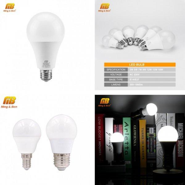 Отличная светодиодная лампа с цоколем MingBen (E14 и E27)