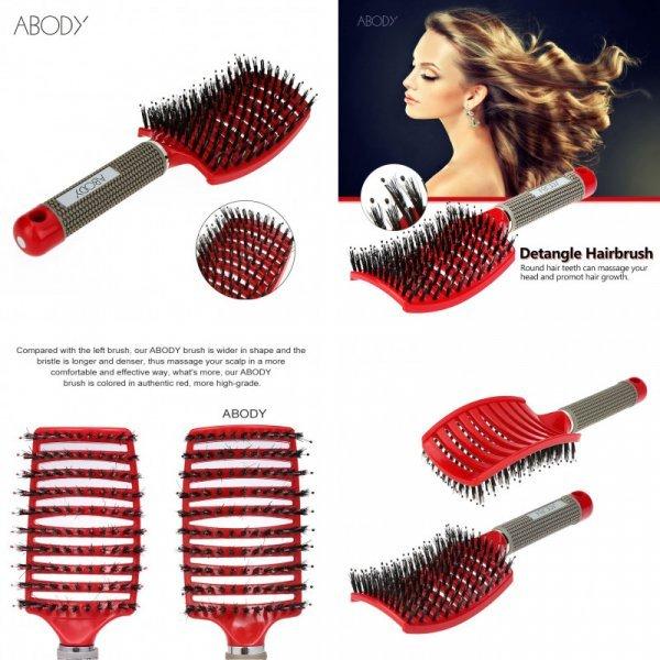 Профессиональная массажная щетка для волос от ABODY
