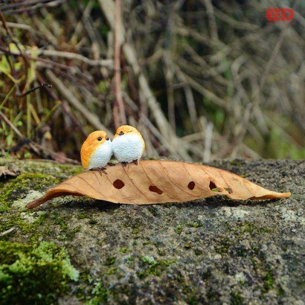 Укрась сад фигурой Птицы на листике (2 и 4 птицы, 17*2.5*4 см и 17*4*5 см)