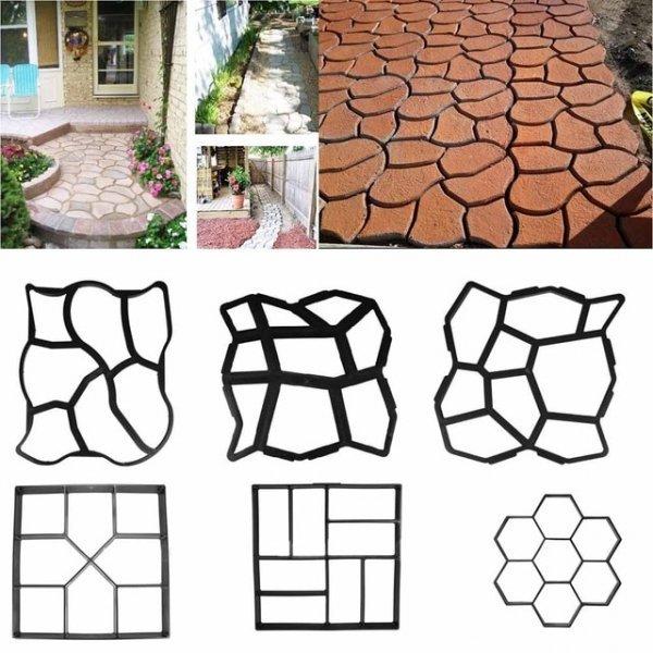 Форма для тротуарной плитки из пластика Proffesal (размер зависит от формы, 1 шт)
