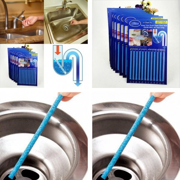 Палочки для очистки канализационных труб (12 шт)